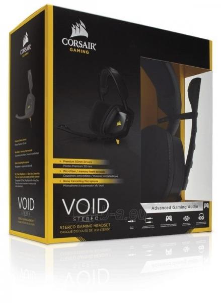 Žaidimų ausinės Corsair VOID, PC/Mac/PlayStation4/XboxOne - juodos Paveikslėlis 1 iš 4 250255091259