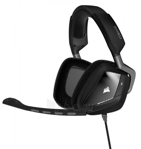 Žaidimų ausinės Corsair VOID 7.1, USB, RGB Lighting, CUE Control - juodos Paveikslėlis 2 iš 3 250255091224