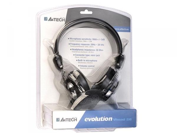 Žaidimų ausinės su mikrofonu A4-Tech EVO Vhead 28 Paveikslėlis 2 iš 3 250255090947