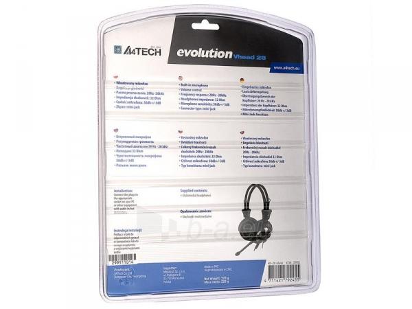 Žaidimų ausinės su mikrofonu A4-Tech EVO Vhead 28 Paveikslėlis 3 iš 3 250255090947