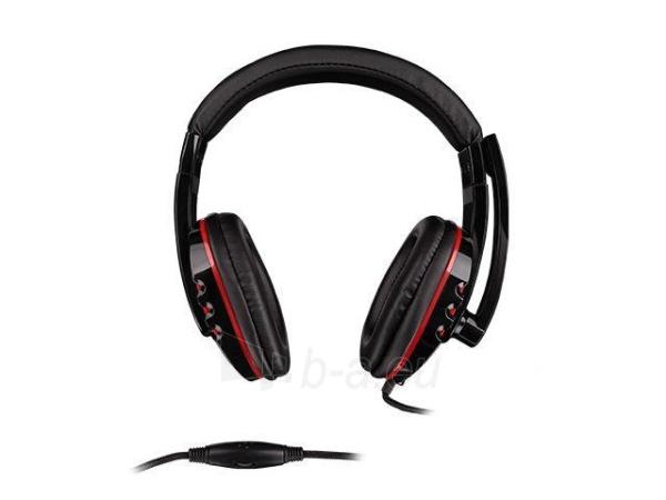 Žaidimų ausinės su mikrofonu Natec Genesis H12, 1 x Mini Jack 3.5mm Paveikslėlis 2 iš 4 250255090964