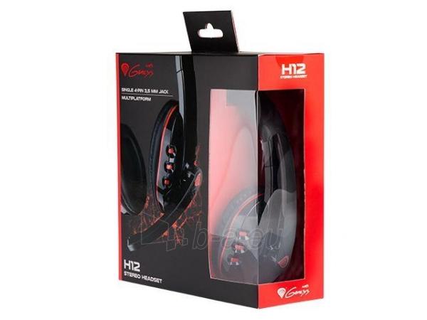 Žaidimų ausinės su mikrofonu Natec Genesis H12, 1 x Mini Jack 3.5mm Paveikslėlis 4 iš 4 250255090964