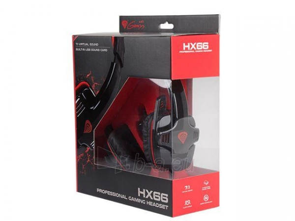 Žaidimų ausinės su mikrofonu Natec Genesis HX66 Virtual 7.1, USB Paveikslėlis 7 iš 7 250255090970