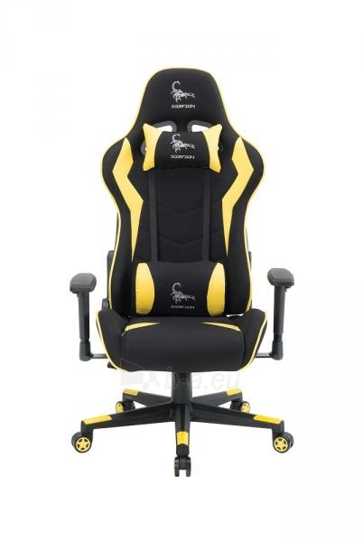 Žaidimų kėdė Gembird Gaming chair SCORPION-06, Medžiaginė juoda su raudonai siūlais Paveikslėlis 1 iš 14 310820187936