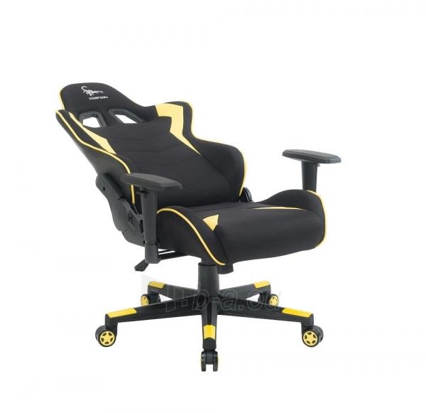 Žaidimų kėdė Gembird Gaming chair SCORPION-06, Medžiaginė juoda su raudonai siūlais Paveikslėlis 12 iš 14 310820187936