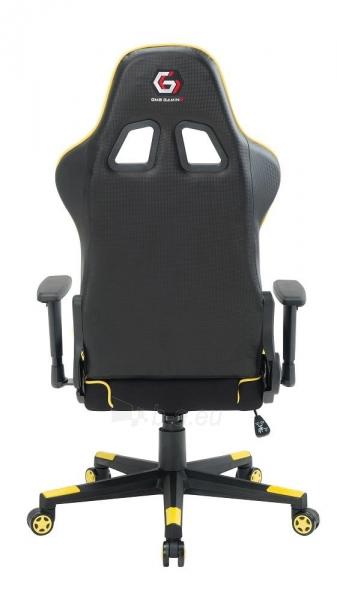 Žaidimų kėdė Gembird Gaming chair SCORPION-06, Medžiaginė juoda su raudonai siūlais Paveikslėlis 9 iš 14 310820187936