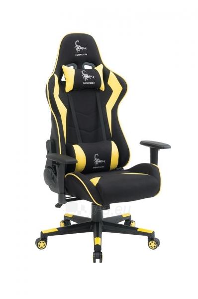 Žaidimų kėdė Gembird Gaming chair SCORPION-06, Medžiaginė juoda su raudonai siūlais Paveikslėlis 8 iš 14 310820187936