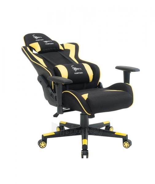 Žaidimų kėdė Gembird Gaming chair SCORPION-06, Medžiaginė juoda su raudonai siūlais Paveikslėlis 7 iš 14 310820187936