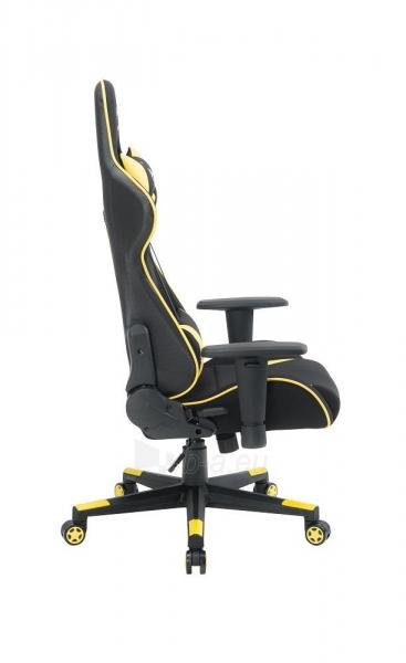 Žaidimų kėdė Gembird Gaming chair SCORPION-06, Medžiaginė juoda su raudonai siūlais Paveikslėlis 6 iš 14 310820187936