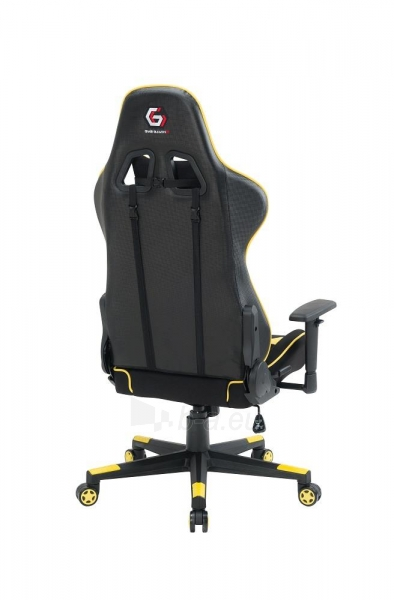 Žaidimų kėdė Gembird Gaming chair SCORPION-06, Medžiaginė juoda su raudonai siūlais Paveikslėlis 5 iš 14 310820187936