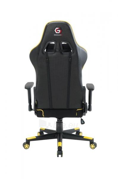 Žaidimų kėdė Gembird Gaming chair SCORPION-06, Medžiaginė juoda su raudonai siūlais Paveikslėlis 4 iš 14 310820187936