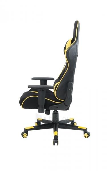 Žaidimų kėdė Gembird Gaming chair SCORPION-06, Medžiaginė juoda su raudonai siūlais Paveikslėlis 3 iš 14 310820187936