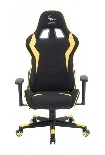 Žaidimų kėdė Gembird Gaming chair SCORPION-06, Medžiaginė juoda su raudonai siūlais Paveikslėlis 2 iš 14 310820187936