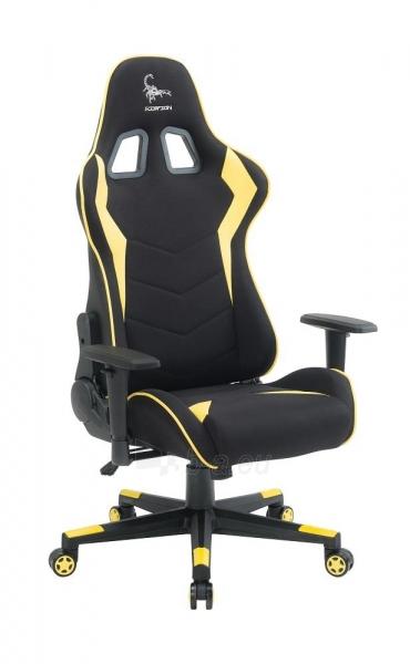 Žaidimų kėdė Gembird Gaming chair SCORPION-06, Medžiaginė juoda su raudonai siūlais Paveikslėlis 14 iš 14 310820187936