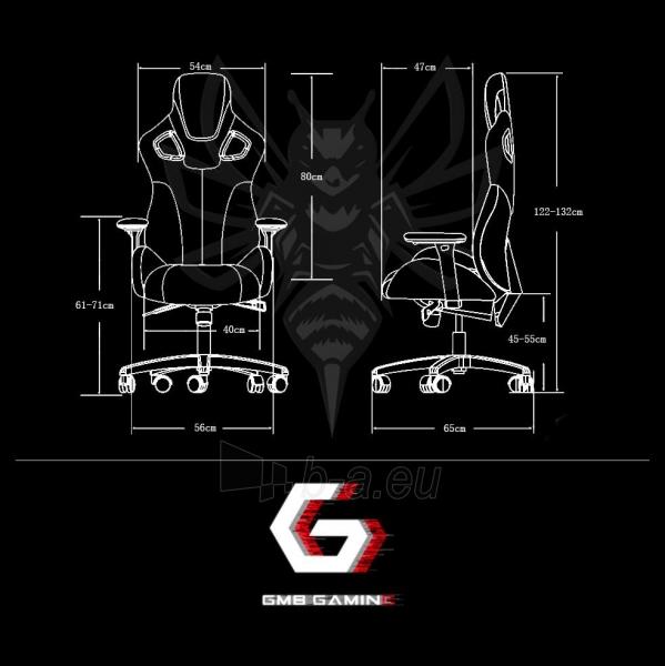 Žaidimų kėdė Gembird HORNET Juoda su raudonomis linijomi Paveikslėlis 7 iš 7 310820156556