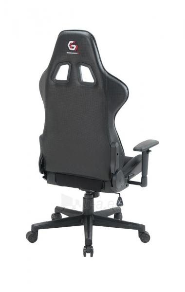 Žaidimų kėdė Gembird SCORPION-05, Medžiaginė juoda su geltonais elementais Paveikslėlis 12 iš 14 310820187935
