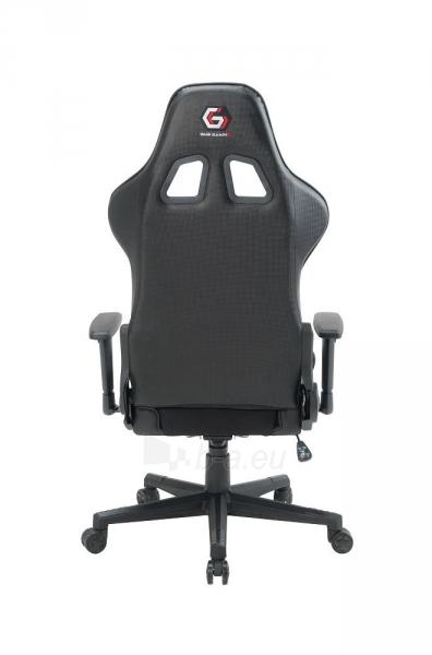 Žaidimų kėdė Gembird SCORPION-05, Medžiaginė juoda su geltonais elementais Paveikslėlis 11 iš 14 310820187935
