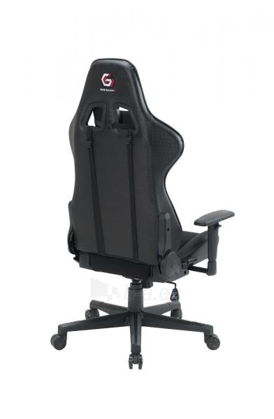 Žaidimų kėdė Gembird SCORPION-05, Medžiaginė juoda su geltonais elementais Paveikslėlis 7 iš 14 310820187935