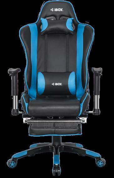 Žaidimų kėdė I-BOX AURORA GT1 GAMING ARMCHAIR BK/BLUE Paveikslėlis 2 iš 9 310820173118