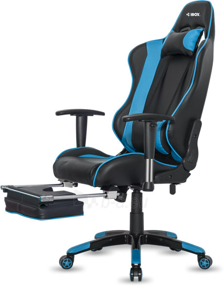 Žaidimų kėdė I-BOX AURORA GT1 GAMING ARMCHAIR BK/BLUE Paveikslėlis 4 iš 9 310820173118