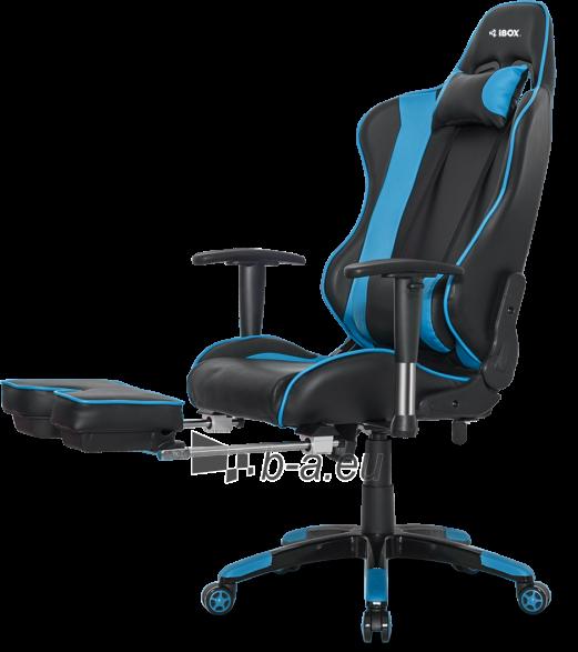 Žaidimų kėdė I-BOX AURORA GT1 GAMING ARMCHAIR BK/BLUE Paveikslėlis 6 iš 9 310820173118
