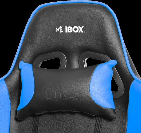 Žaidimų kėdė I-BOX AURORA GT1 GAMING ARMCHAIR BK/BLUE Paveikslėlis 8 iš 9 310820173118