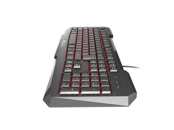 Žaidimų klaviatūra Natec Genesis RX11, pašviestas, juoda USB Paveikslėlis 4 iš 5 250255701405