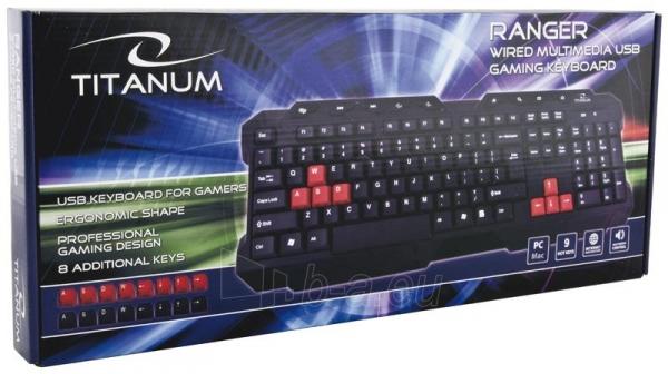 Žaidimų klaviatūra Titanum TK105 USB RANGER Paveikslėlis 3 iš 3 250255701208