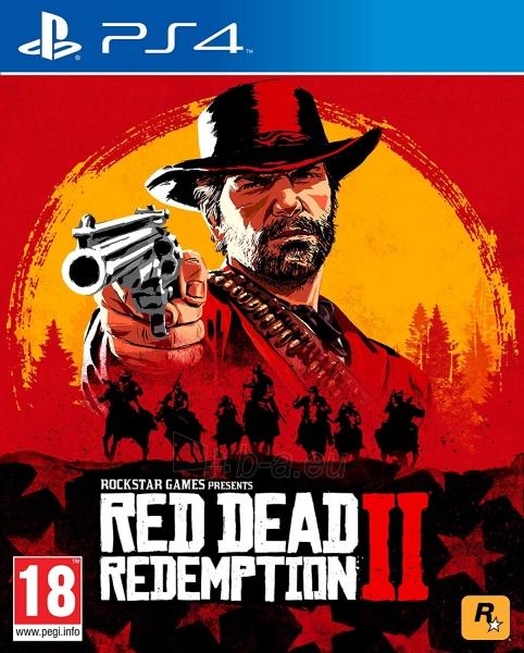 Žaidimų konsolė Sony Playstation 4 Slim 500GB (PS4) Black + Red Dead Redemtion 2 Paveikslėlis 3 iš 6 310820175092