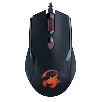 Žaidimų pelė Genius Ammox X1-400, 4 mygtukai, USB, juoda Paveikslėlis 2 iš 4 310820013716