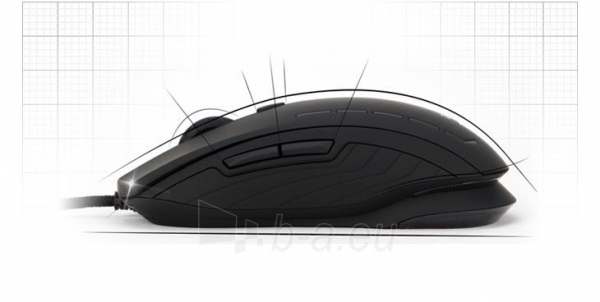 Žaidimų pelė Zalman 2500 DPI Wired ZM-M401R with backlight Paveikslėlis 4 iš 12 250255031431
