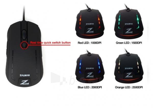 Žaidimų pelė Zalman 2500 DPI Wired ZM-M401R with backlight Paveikslėlis 12 iš 12 250255031431