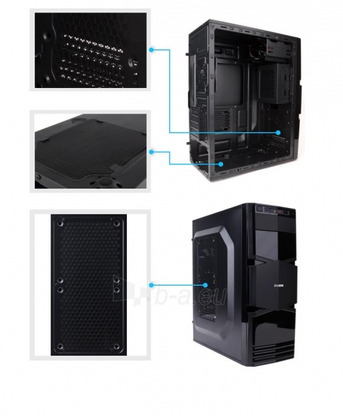Zalman Chasis ZM-T3 Mini Tower (without PSU, USB 3.0) Paveikslėlis 10 iš 13 250255900913