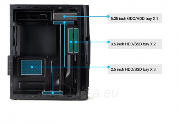 Zalman Chasis ZM-T3 Mini Tower (without PSU, USB 3.0) Paveikslėlis 9 iš 13 250255900913