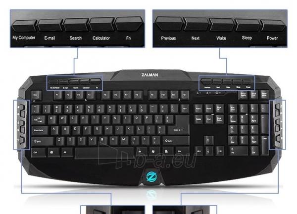Zalman Multimedia Keyboard ZM-K300M Paveikslėlis 6 iš 9 250255701212