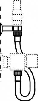 Žarnelė dušo su laikikliu MORA (450mm) Paveikslėlis 1 iš 1 271250000018