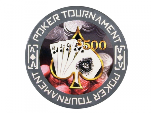 25 vnt. Clay Tournament Design 11,5 g. 500 Paveikslėlis 1 iš 2 251010000142