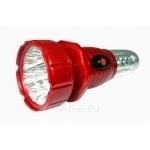 Žibintuvėlis LED, 7+16LED, pakraunamas, 220V, daugiafunkcinis, raudonas, Tiross TIS-798 Paveikslėlis 1 iš 1 224140000206