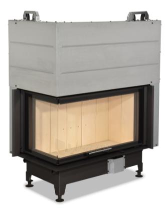 Židinio ugniakuras kampinis HL3LF01 81.51.40.01 vientisu kairės pusės pakel. stiklu 51 cm ir atv. durimis Paveikslėlis 1 iš 4 310820165811