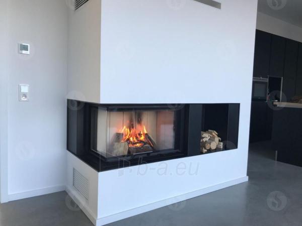Židinio ugniakuras kampinis HL3LG01 65.51.40.01 vientisu kairės pusės pakel.stiklu 51 cm ir atv. durimis Paveikslėlis 2 iš 4 310820165812