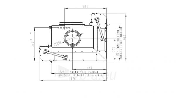 Židinio ugniakuras kampinis HL3LG01 65.51.40.01 vientisu kairės pusės pakel.stiklu 51 cm ir atv. durimis Paveikslėlis 3 iš 4 310820165812