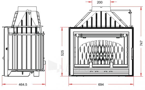 Židinys Invicta Compact su sklende Paveikslėlis 2 iš 2 310820235968