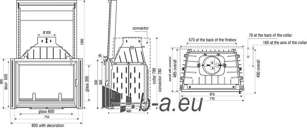 Židinys Seguin Europa 7, su dv. degimo funkcija ir pakeliamu stiklu Paveikslėlis 2 iš 2 310820235969