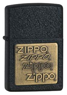 Žiebtuvėlis ZIPPO Z362, Brass Emblem Black Crackle Paveikslėlis 1 iš 1 251004000064
