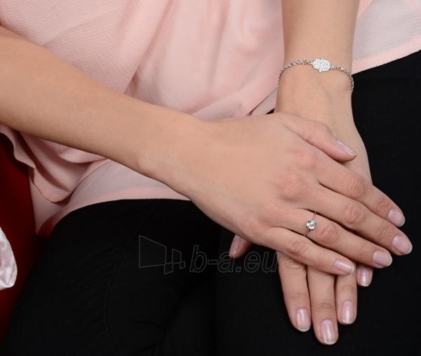 Žiedas Brilio Silver Silver engagement ring with crystal 426 001 00427 04 - 1.62 g Paveikslėlis 2 iš 4 310820127056