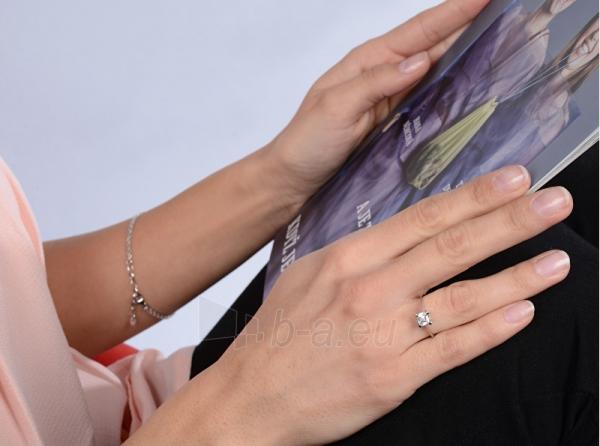 Žiedas Brilio Silver Silver engagement ring with crystal 426 001 00427 04 - 1.62 g Paveikslėlis 4 iš 4 310820127056