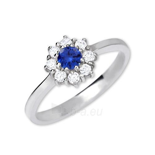 Žiedas Brilio Silver Silver engagement ring with crystals 426 001 00432 04 - blue - 2.30 g Paveikslėlis 1 iš 5 310820127059