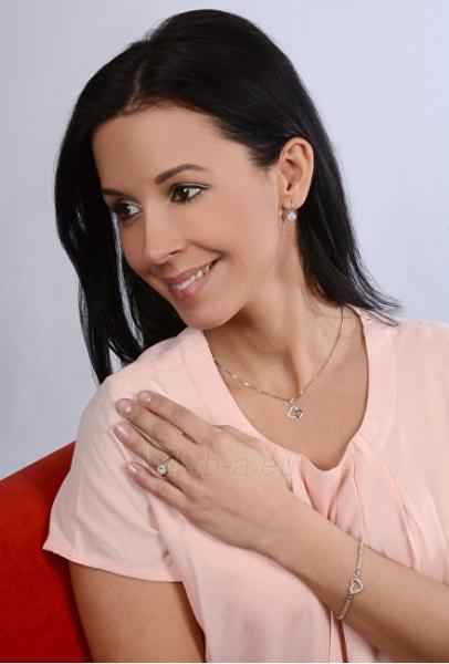 Žiedas Brilio Silver Silver engagement ring with crystals 426 001 00432 04 - blue - 2.30 g Paveikslėlis 3 iš 5 310820127059