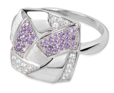 Žiedas Silver Cat sidabrinis su kristalais SC058 (Dydis: 58 mm) Paveikslėlis 1 iš 1 30070203720