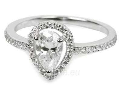 Žiedas Silver Cat sidabrinis su kristalais SC070 (Dydis: 56 mm) Paveikslėlis 1 iš 1 30070203724